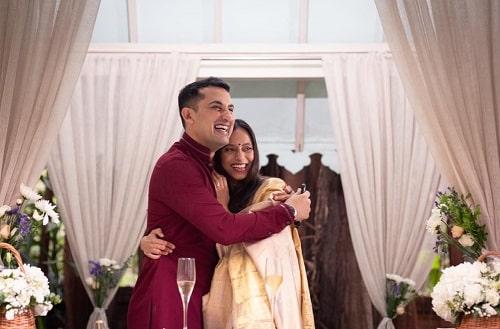 Anya Rangaswami and Danish Sait's wedding photo