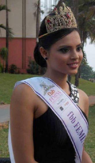 Gail Nicole becomes Femina Miss India Goa in 2014