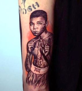 Humble the Poet's Muhammed Ali tattoo