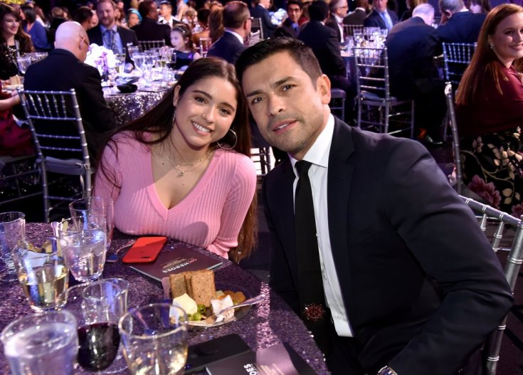 lola consuelos with father mark consuelos