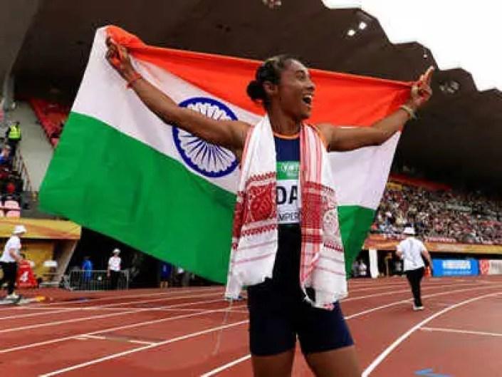 Hima Das, Athlete