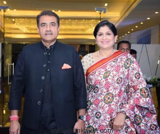 Praful Patel and Varsha Patel