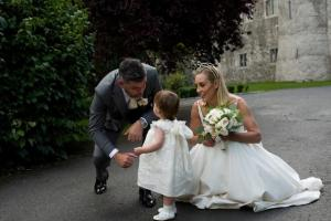 An Image of Padraig McLoughlin and his wife Kathryn Thomas and there daughter Ellie