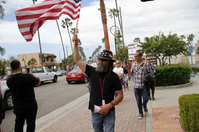Alan Hostetter protesting