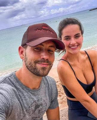 An Image of Natalie Joy and her boyfriend Nick Viall