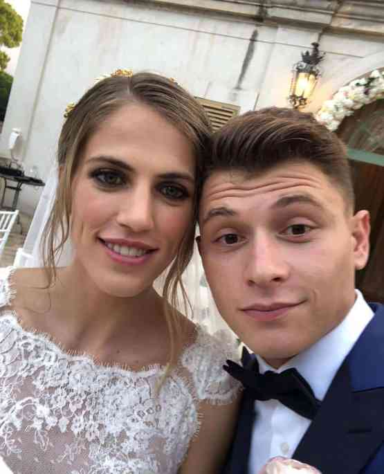 An Image of Federica Schievenin and her husband