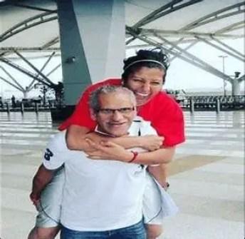 Navnita Gautam with her father
