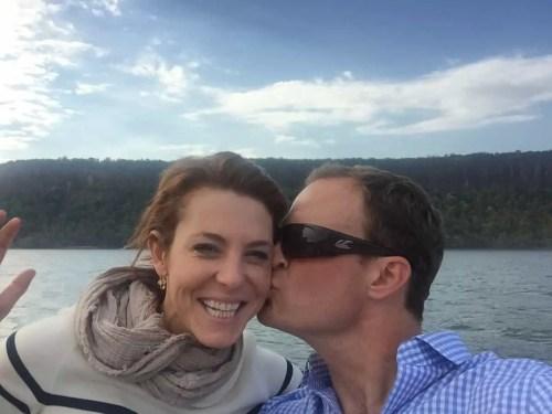 Stephanie Ruhle with her husband