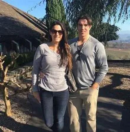 Rosie mattio with her husband
