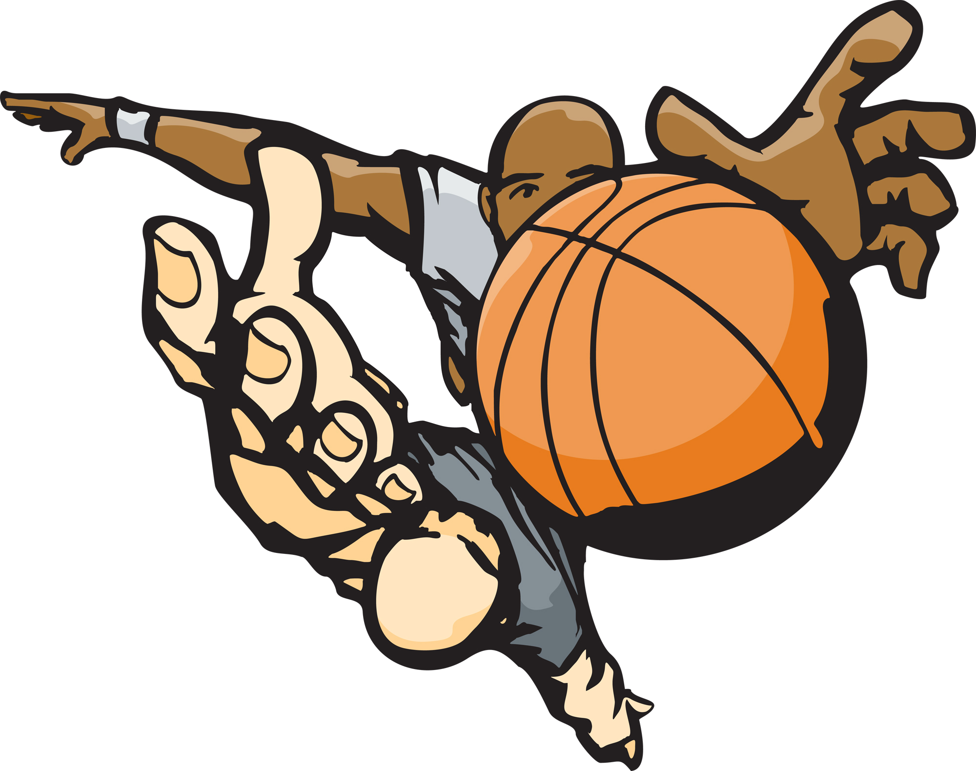 hight resolution of basketball game clipart