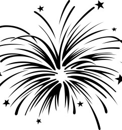 fireworks clipart black and white free [ 2400 x 1807 Pixel ]
