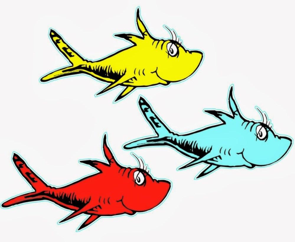 medium resolution of dr seuss clip art fish free clipart images
