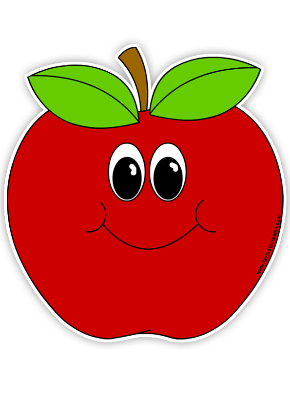 smile apple clipart - wikiclipart