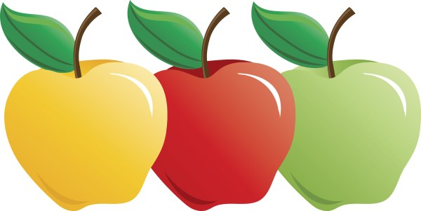 three apple clipart free