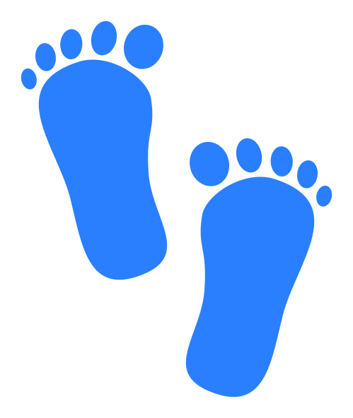 small resolution of baby feet clipart baby footprints blue