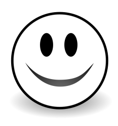 black and white smile clipart free to use clip art resource [ 1871 x 1871 Pixel ]
