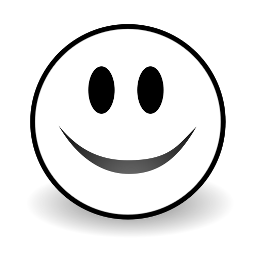 small resolution of black and white smile clipart free to use clip art resource
