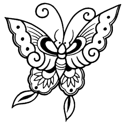 butterfly black and white black and white butterfly clipart [ 1034 x 960 Pixel ]