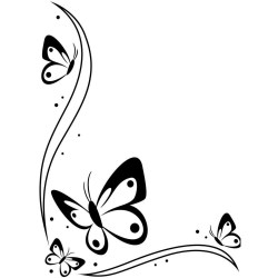 Butterfly black and white butterfly clipart border black and white WikiClipArt