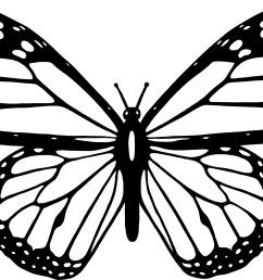 butterfly black and white clipart black and white butterfly [ 2374 x 1757 Pixel ]