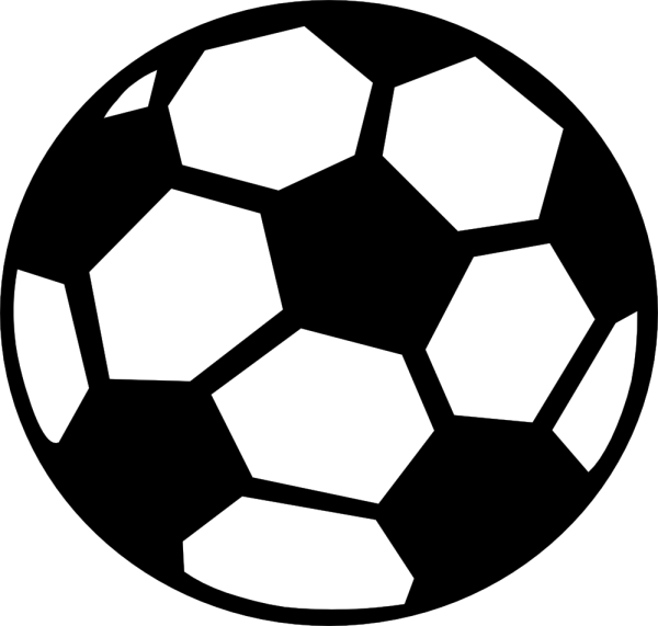 football black and white clip art