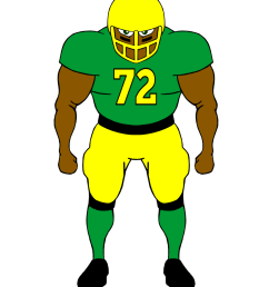 football player clip art free clipart images image 2 [ 1024 x 1333 Pixel ]