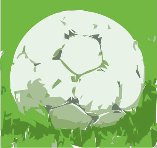 small resolution of free soccer ball on grass clipart and vector image