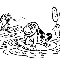 cute frog clipart black and white photo 11 [ 1374 x 869 Pixel ]