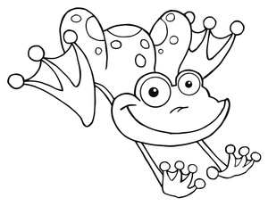 Frog black and white jumping frog clipart image coloring