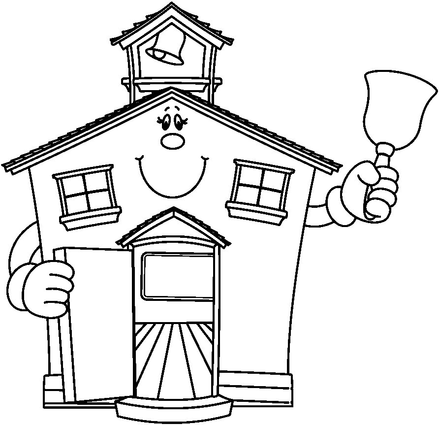 House black and white black and white school clipart