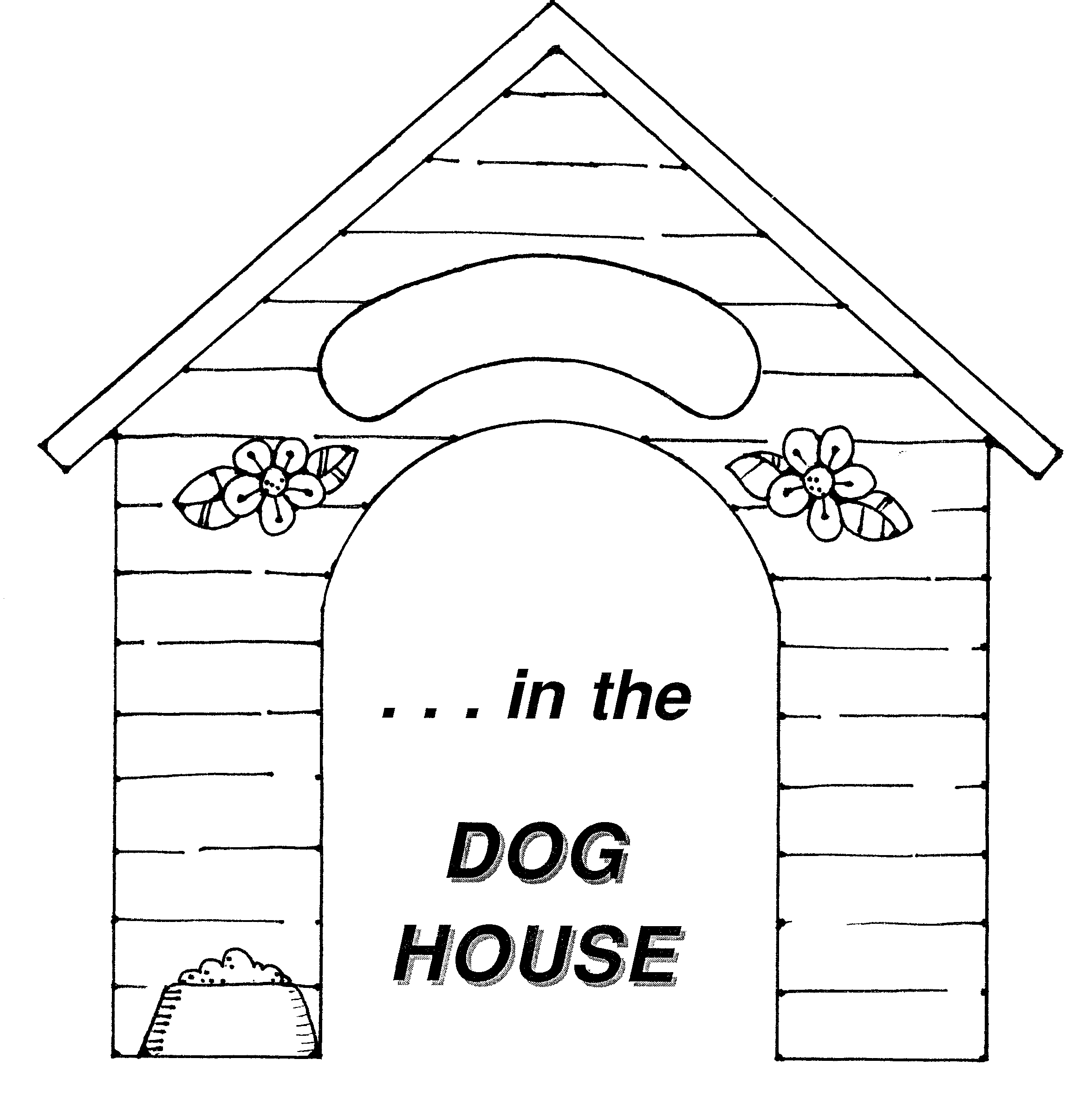 House Black And White Dog House Clipart Images