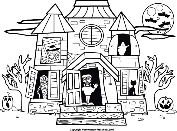House black and white house outline clipart black and