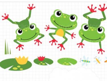 free cute frog clip art clipart