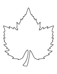 Leaf outline grape leaf pattern use the printable outline for crafts creating clip art WikiClipArt