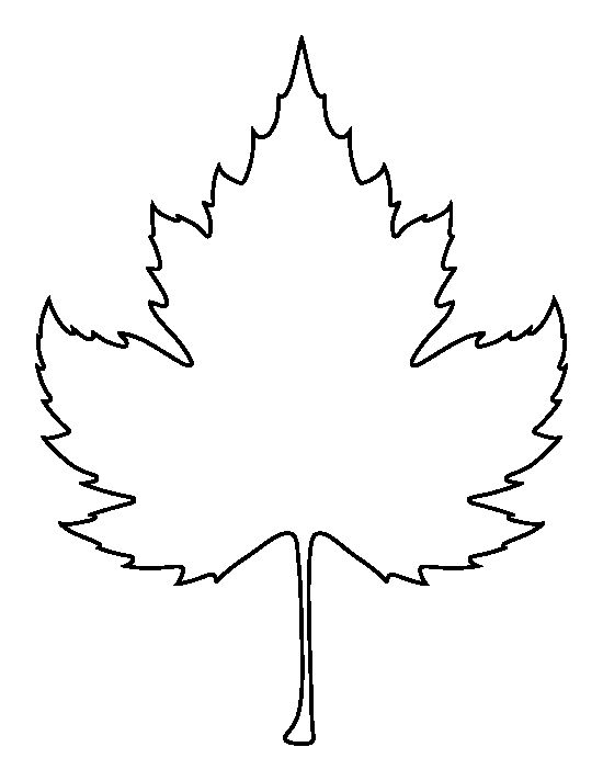 Leaf outline sycamore leaf pattern use the printable
