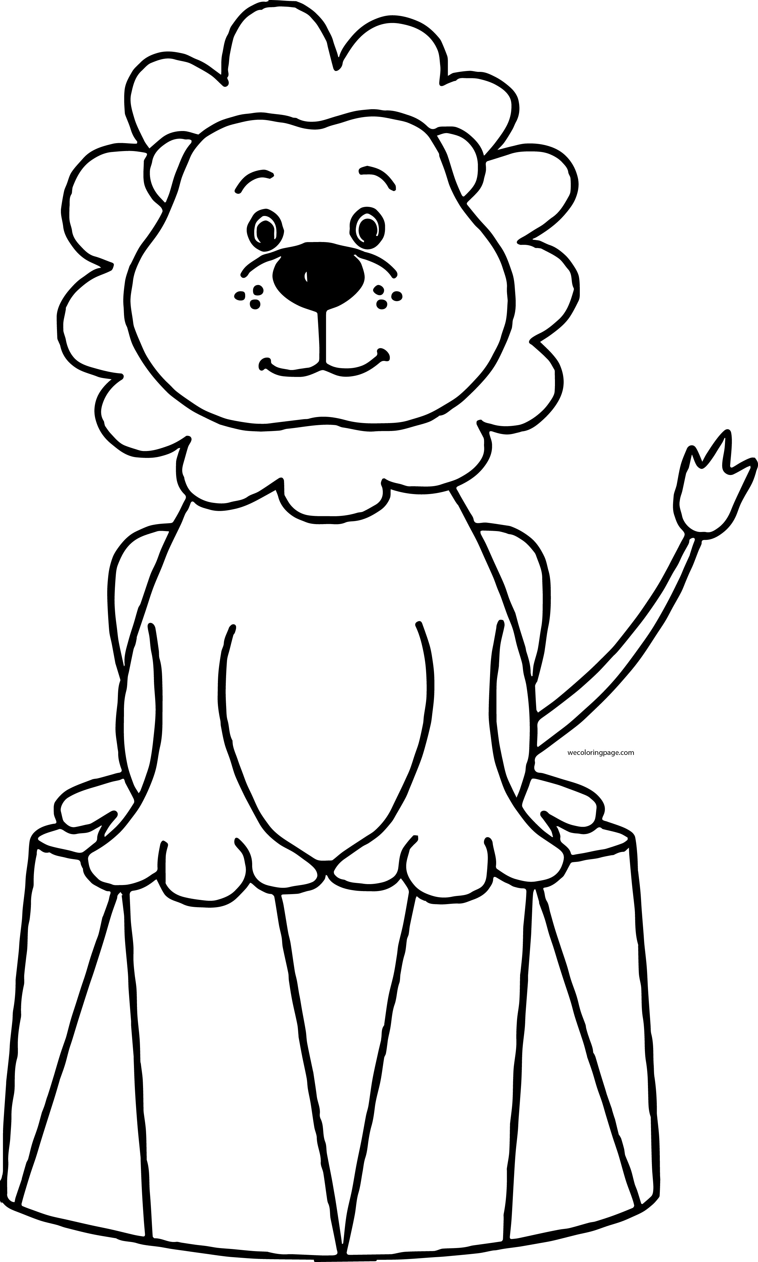 Lion Black And White Circus Lion Clipart Black And White
