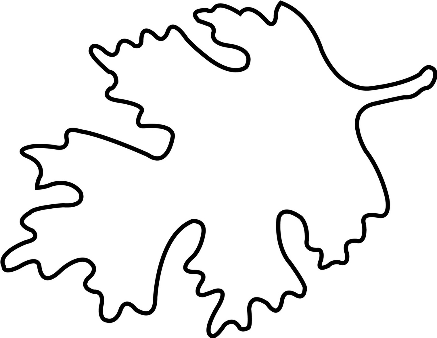 hight resolution of oak leaf outline printable clipart free to use clip art resource