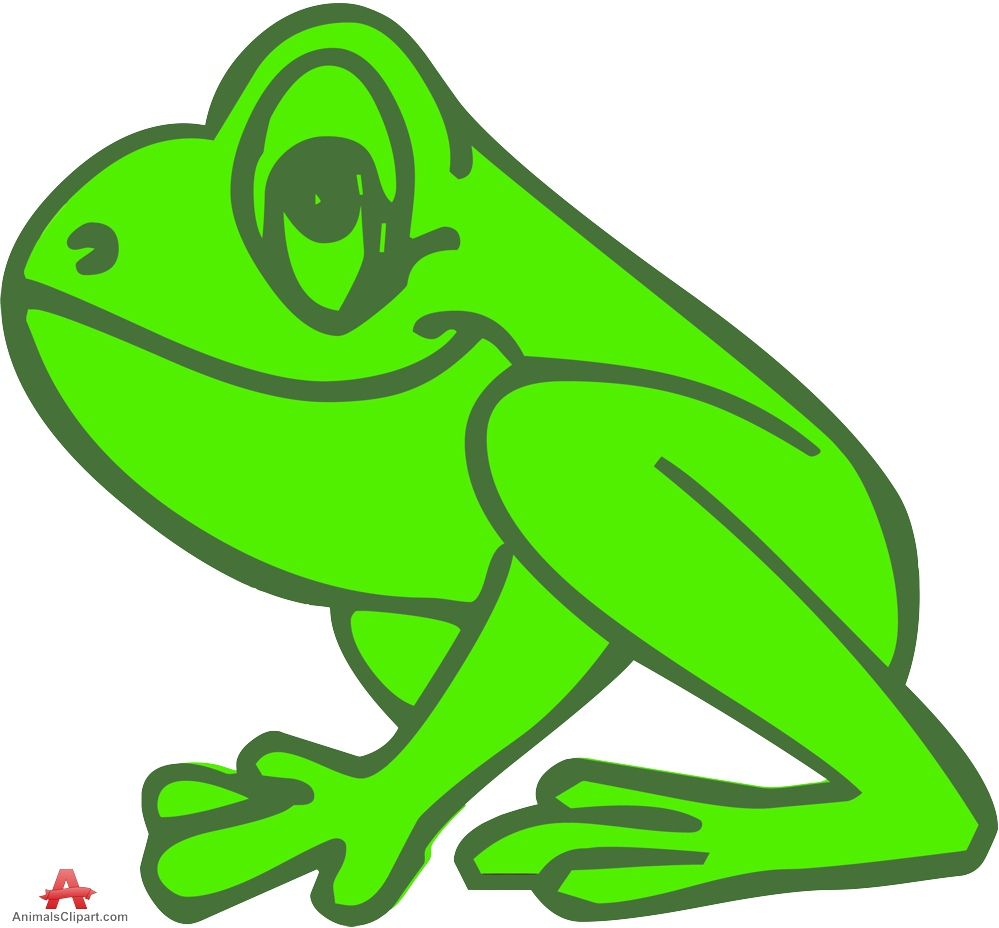 hight resolution of outline colored frog clipart free design download