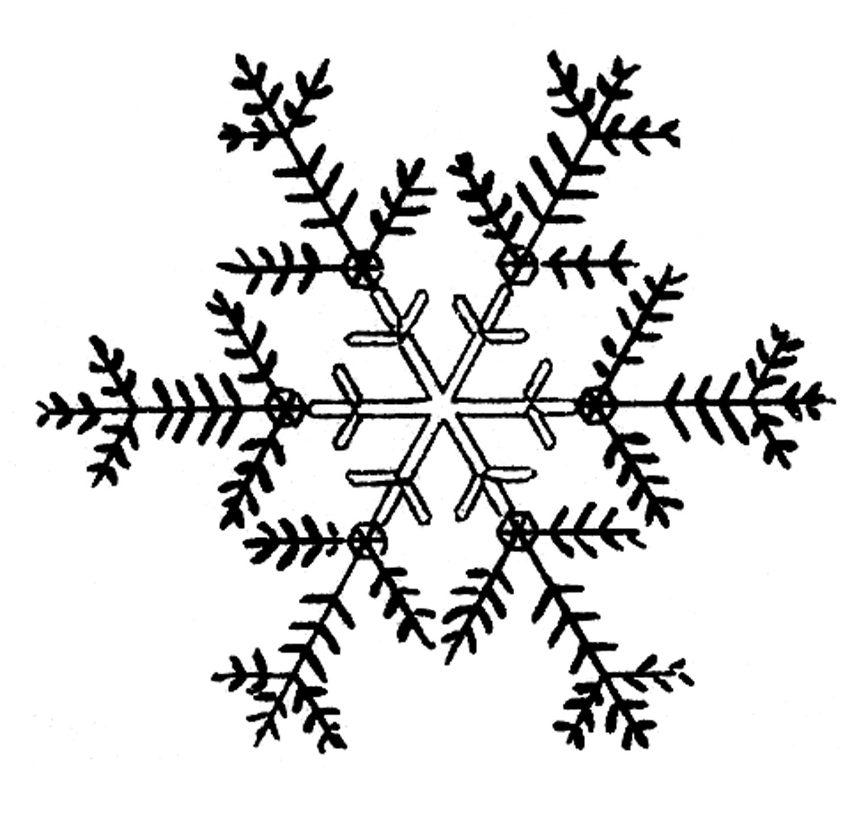 Snowman Black And White Snowflakes Snowflake Clipart Black