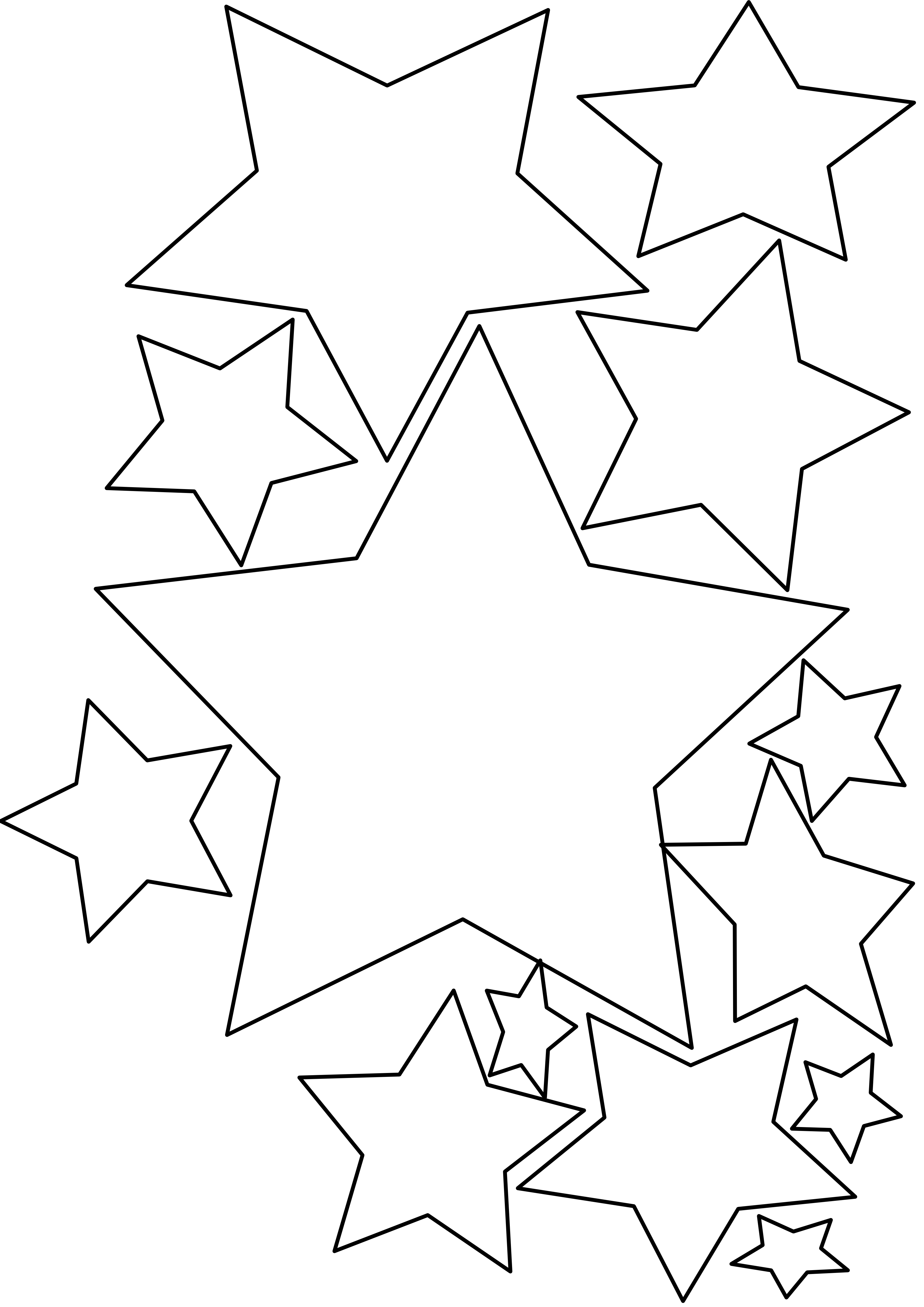 Star Black And White Image Of Black Star Clipart Stars And
