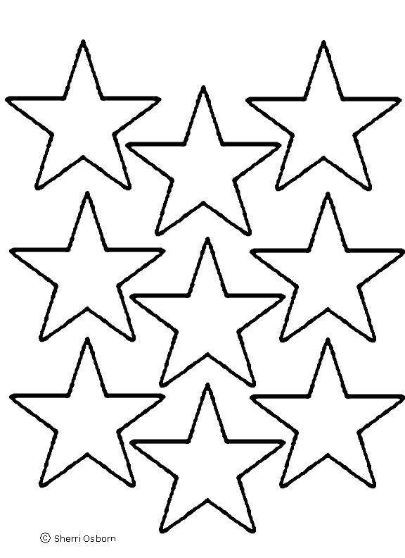 Star outline images different size star outline sized