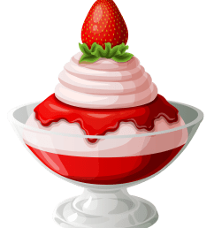 strawberry ice cream sundae transparent picture 2 clip art [ 3551 x 4114 Pixel ]