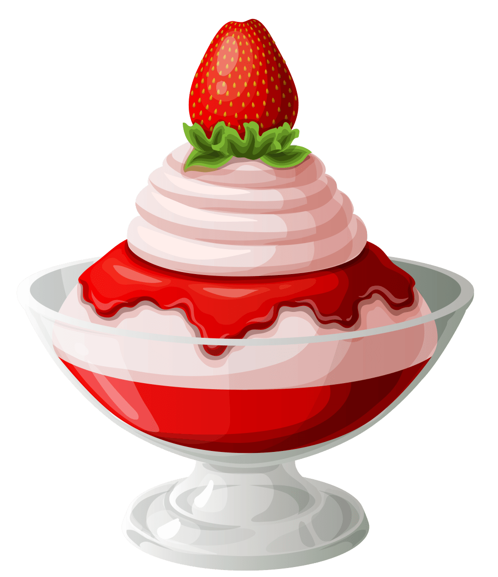 medium resolution of strawberry ice cream sundae transparent picture 2 clip art