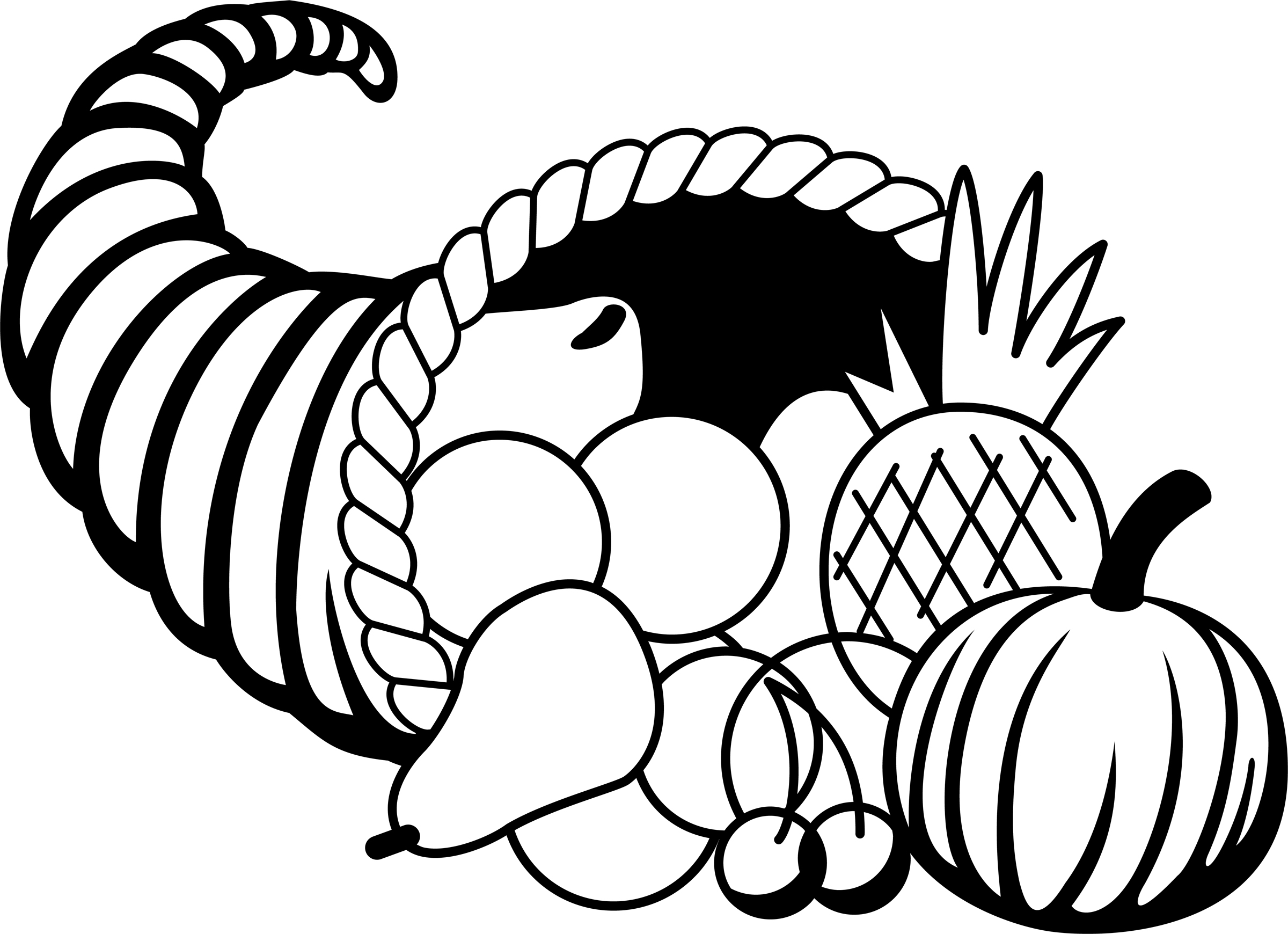 Thanksgiving Clipart Black And White