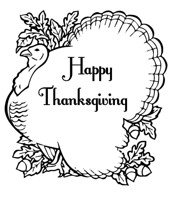 thanksgiving black and white free