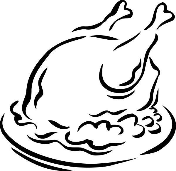 turkey black and white clipart