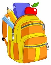 Cartoon school supplies clipart WikiClipArt