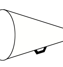 cheer megaphone clipart black and white free 6 [ 1800 x 1217 Pixel ]