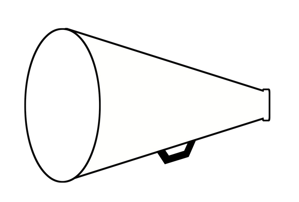 medium resolution of cheer megaphone clipart black and white free 6