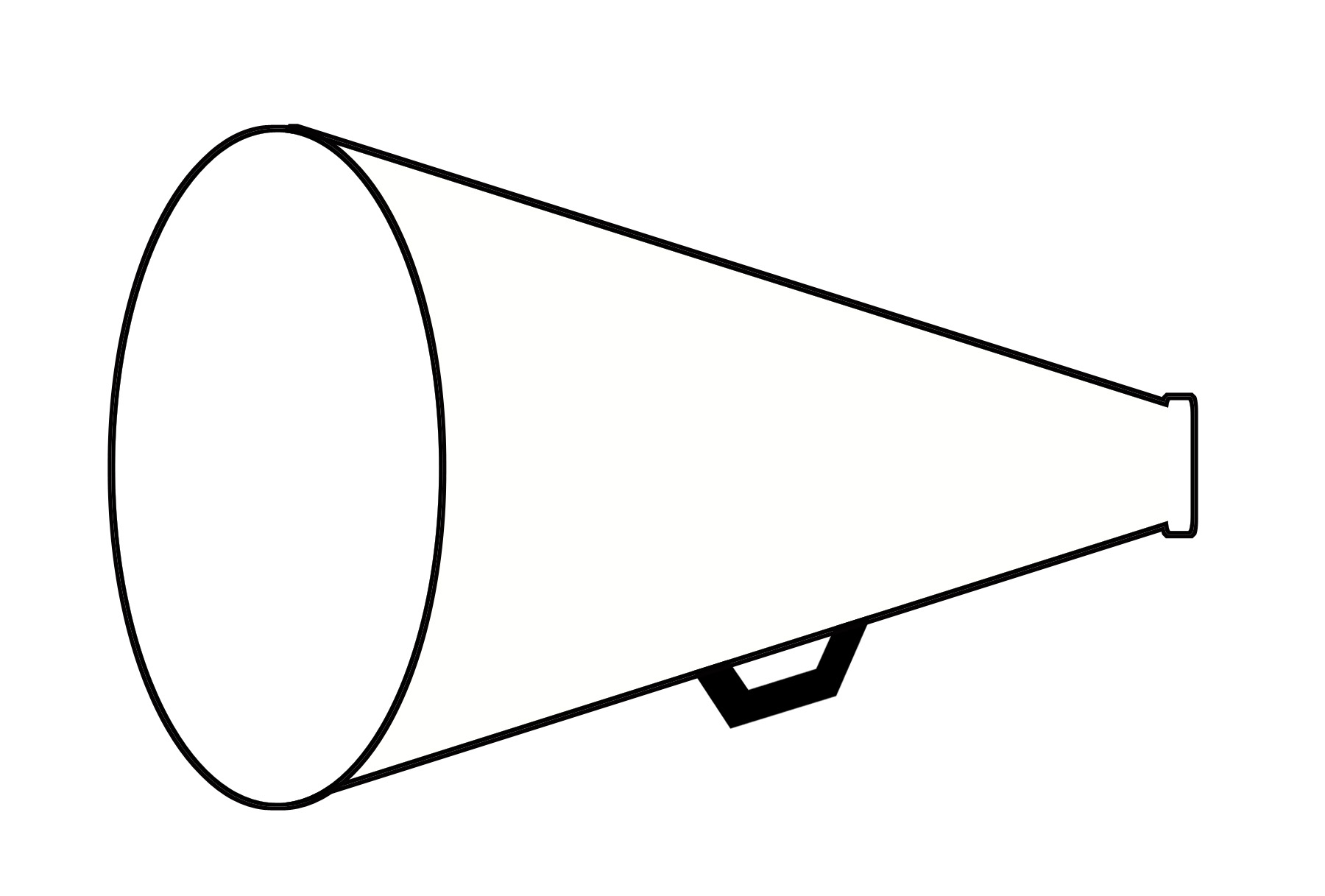 hight resolution of cheer megaphone clipart black and white free 6